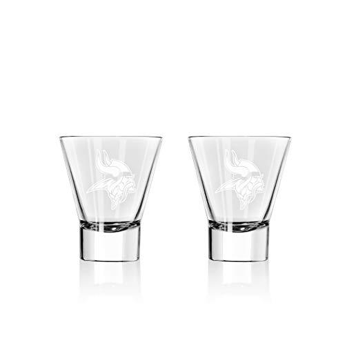 Duck House NFL Minnesota Vikings Stemless Martini Glasses   Premium Glassware   Lead-Free   BPA-Free   4oz   Set of 2