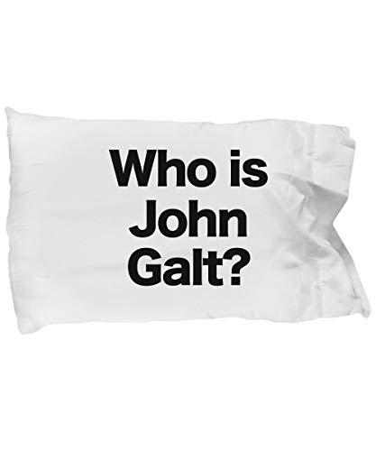 N/ A Who is John Galt funda de almohada de microfibra regalo para anarhcist anarhcist de Ayn Rand
