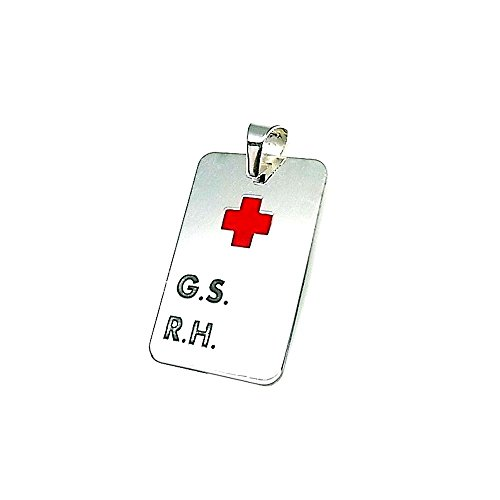 33 millimetri 925m legge ciondolo in argento. R.H g.s piatto croce rossa [AA8307]