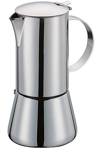 Cilio Espressokocher Aida, 10 Tassen, Edelstahl, Induktion geeignet