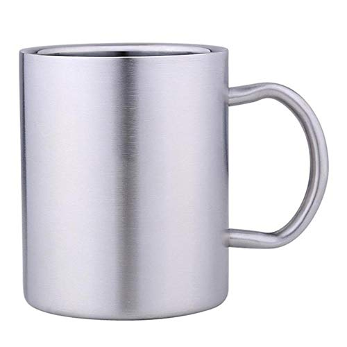 Tassen BadTasseEdelstahl Griff Zahnbürste TragbareTasse Tasse Reisebecher Kaffeetasse Tee Trinkbecher Für Kinder, Silber, 301-400Ml