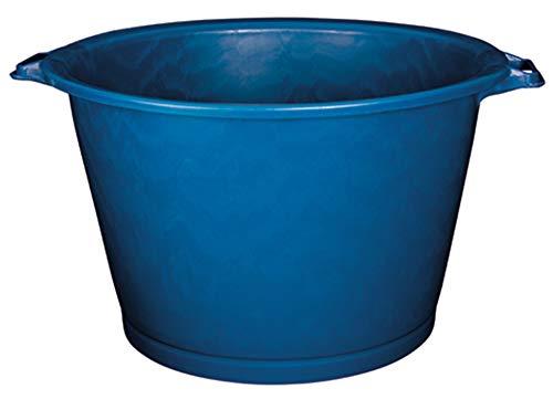 Aluminium et Plastique RIVBQRD75 Baquet Rond Plastique Bleu 75 L