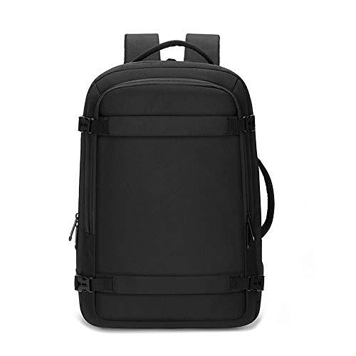 YMXLJJ Sac à dos pour ordinateur portable avec port de charge USB, sac à dos étanche pour hommes et femmes Voyage étudiants L Noir