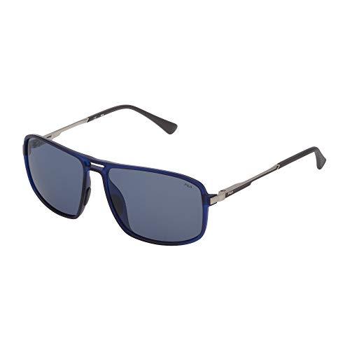 Fila SF9329 U58P 58-15-140 - Gafas de sol unisex, color azul translúcido mate, lentes azules polarizadas