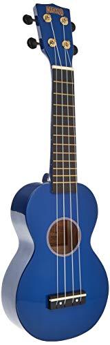 Mahalo Learn 2 Play Ukelele soprano con paquete esencial, azul, incluye afinador, cuerdas Aquila, púas y más
