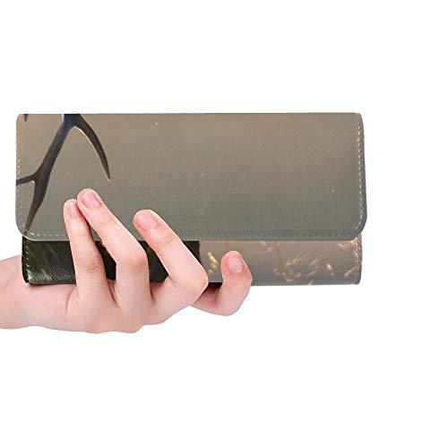 Einzigartige benutzerdefinierte horizontale Bild männlich Red Deer Stagat Frauen Trifold Wallet Lange Geldbörse Kreditkarteninhaber Fall Handtasche