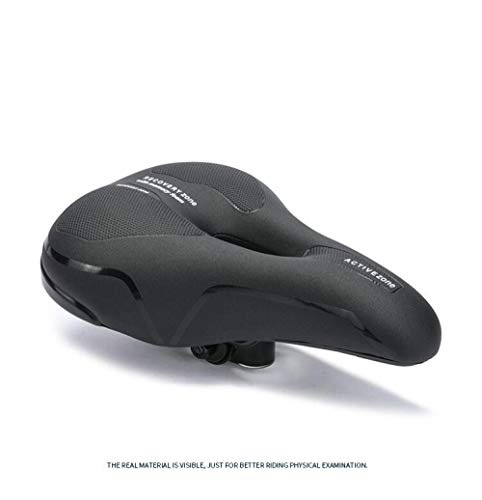 Sillín de BicicletaCojín de Bicicleta Sillín Mountain Bike Big Ass Cushion-Black