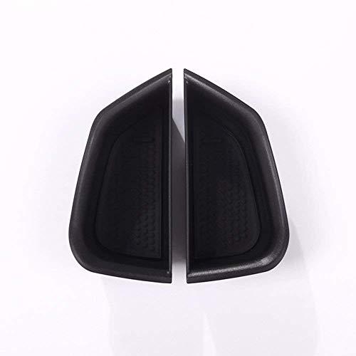 Accessoire intérieur Automatique de véhicule, pour Giulia 2017, Plateau de boîte de Rangement de Porte Avant de Voiture avec Noir Mat en Plastique ABS de Fibre de Carbone, 2 pcs/Set
