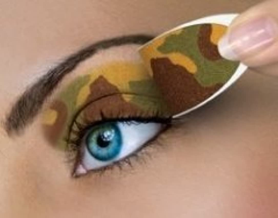 脚本パパずっと米国シネマシークレット社製 カモフラージュ 貼るインスタントアイシャドウ(カラーオン) Camouflage CO056