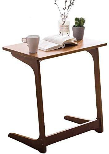 CZYNB Gute Qualität Sofa Side Beistelltisch Bambus Snack Tisch mit L-förmigen Beinen, Mehrzwecktisch for Wohnzimmer, 65cm Hoch (Size : 60×40×65cm)