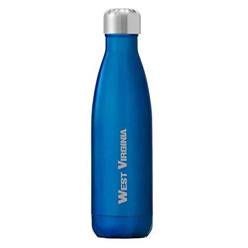 S'well West Virginia Mountaineers, 17 oz Vacuum Insulated Water Bottle, Ocean Blue