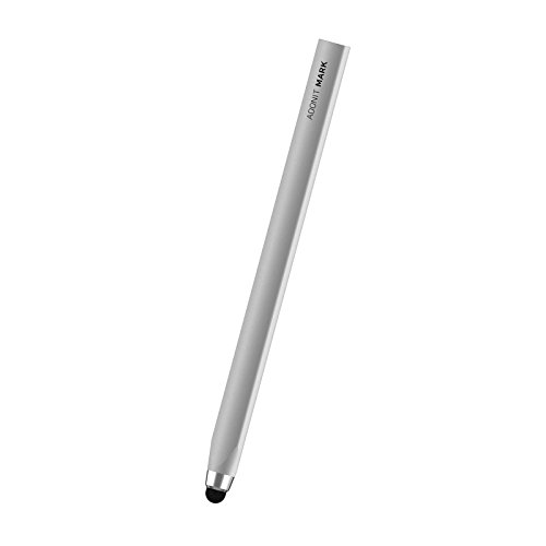 Adonit Mark (Silver) Executive Capacitive Stylus for Touchscreen Kindle Touch iPad/Air/iPad Pro/Mini, iPhone 11/Pro Max/8/7/XR/XS/XR/X, Samsung S10/9/8/Plus/Note+, and All Android iOS Devices Tablets