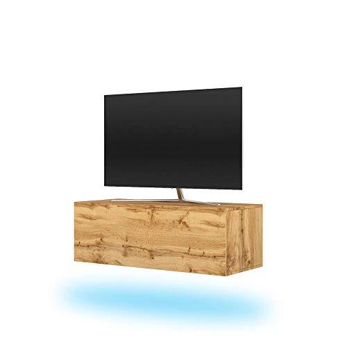 Selsey tv-lowboard, Wotan eiken, 100 cm