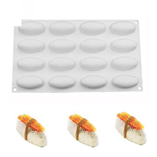 douzxc 1 Uds molde de silicona para pastel de alimentos antiadherente de silicona para sushi Nigiri moldes para pasteles para postres, helados de Chocolate, herramientas para hornear