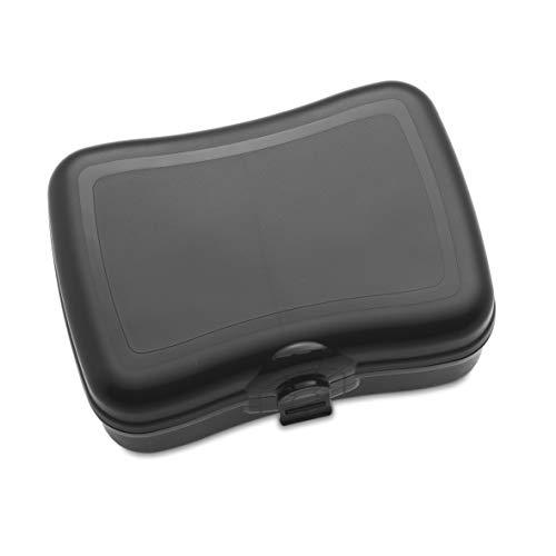 koziol 3081526 Basic Lunchbox, Plastik, Schwarz, 12.2 x 16.8 x 6.6 cm