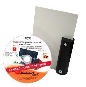 Multipick Original: tarjeta de apertura de puerta con mango 'negro', 0,5 mm, incluye instrucciones en línea profesional (idioma español no garantizado).