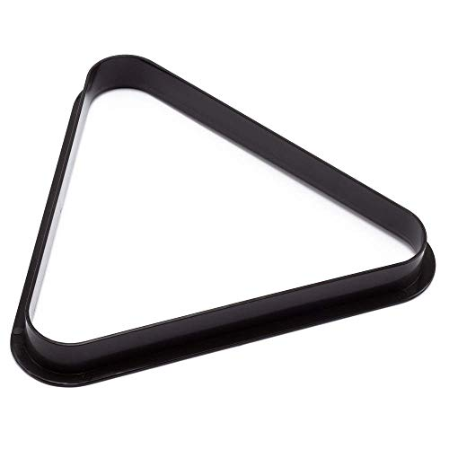 BILLARES Y DARDOS CAMARA Triángulo para Bolas de Billar Americano de plástico, tamaño Profesional para mesas de Billar (57 mm)