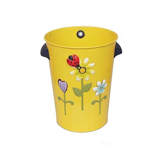 liushop Bote de Basura Papelera Creativa Hogar Cocina Baño Dormitorio Papelera Cesta 10L Multicolor Opcional Papeleras (Color : YellowB)