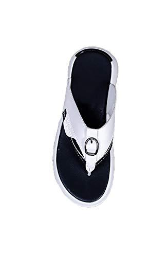 Ling Fengfeiyang Elegante Chanclas,Sandalias Flip Flop Zapatos Playa,Sandalias Deportivas Outdoor, Chanclas Outdoor-Blanco_43