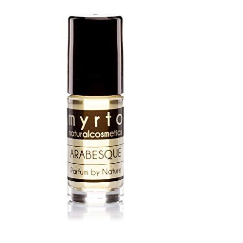 myrto – Bio Naturkosmetik Parfum - ARABESQUE – Eau de Parfum für Frauen und Männer | ohne synthetische Duftstoffe - vegan - in Roll-on Glasflasche - 5ml Travel Size