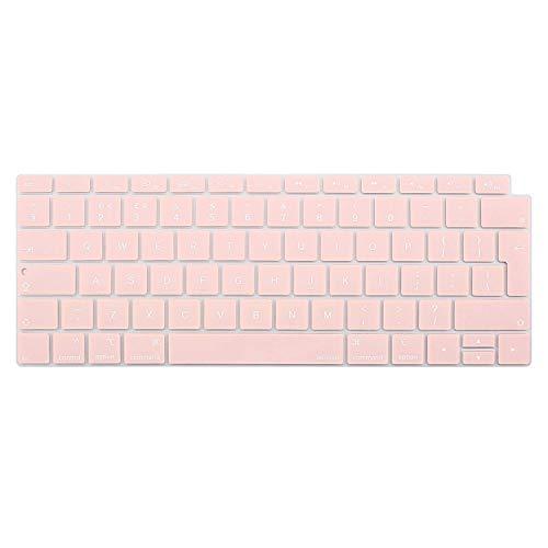 MOSISO Waterdichte Stofdichte Beschermende Siliconen Toetsenbord Cover Huid Compatibel met MacBook Air 13 Inch (Europa Layout) Rozenkwarts