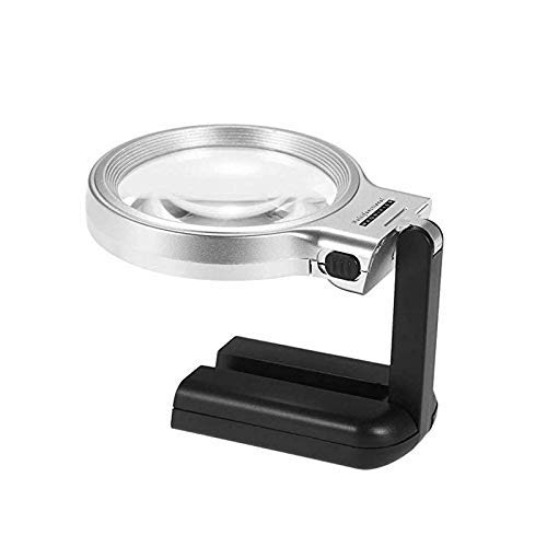 AJH LED lamp Folding Table held Dual Readings Magnifier Holding Magnifying Glass