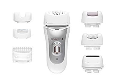 Remington EP7700 7-in-1 Wet and Dry Cordless Epilator for Women with 7 Hair Removal Attachments Including Shaver, Pedicure, Bikini and Detail by Spectrum Brands UK Ltd