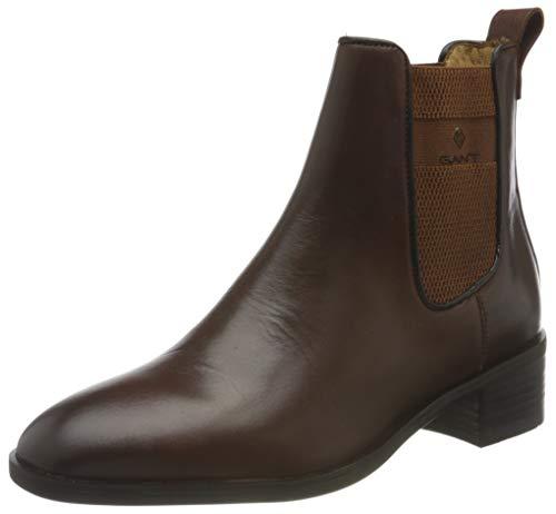 GANT FOOTWEAR Damen DELLAR Chelsea-Stiefel, Cognac, 39 EU