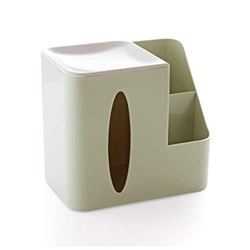 Creatieve woonkamer tafelblad tissuedoos, multifunctionele opbergdoos met afstandsbediening, salontafel plastic lade, huishoudpapierrol,Green