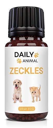PowerSupps Daily Animal ZECKLES Globuli für Hunde & Katzen mit Sofortwirkung, radionisch informiert - hochwirksam - Schutz für Ihr Haustier