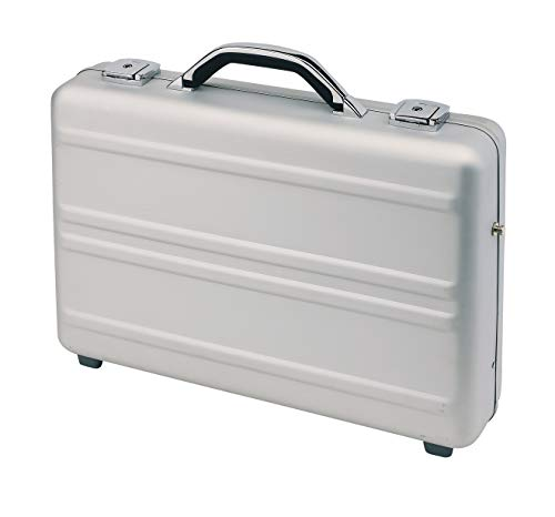 Aktenkoffer Alu Alukoffer Aluminiumkoffer Umhängegurt Koffer Silber 44 Bowatex