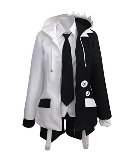 CLLMKL`COS Women Men Monokuma Black White Bear Cosplay Costume School Uniform Halloween(Women:X-Small)