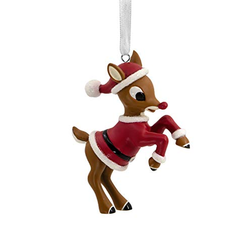 Hallmark Christmas Ornaments, Rudolph the Red-Nosed Reindeer in Santa Suit Ornament