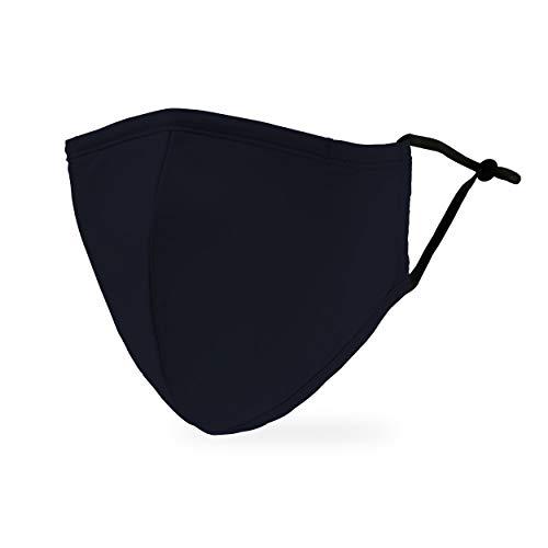 Weddingstar waschbare, Mundschutzmasken aus Stoff. Wiederverwendbar und verstellbar mit Staubfiltertasche - Marine Blau