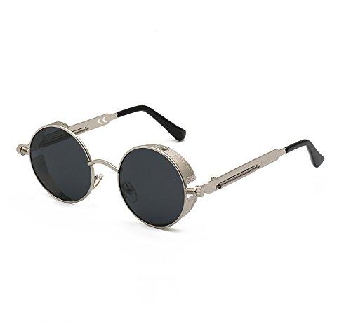DAWILS Damen Runde Gläser Verspiegelte Brille John Lennon Retro Vintage Polarisierte Sonnenbrille