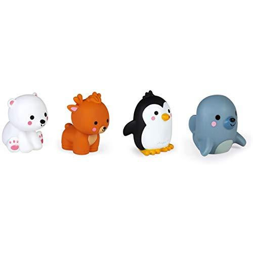 Janod- 1 Lanzachorros Animales del Polo Norte 4piezas - Juguete de baño para niños pequeños - A partir de 10meses (JURATOYS J04704)