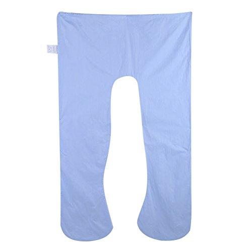 Yosoo U Shape Body Pillow Cover Multifuncional Embarazo Supporter Cover Lavable U Algodón Funda de cojín (Azul)