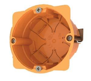 Cajas empotradas para paredes huecas (pladur ó similar) Caja para mecanismos enlazable 68 x 45mm naranja