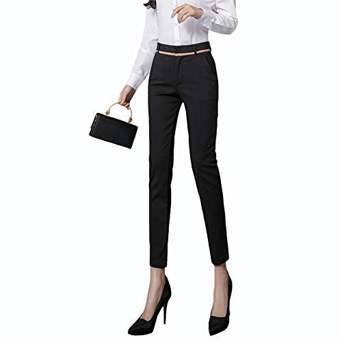 WYFZ Pantalones De Lápiz Delgados Pantalones De Cercanías, Pantalones Pitillo De Mujer, Pantalones De Traje De Pierna Recta Elásticos Casuales De Cintura Alta