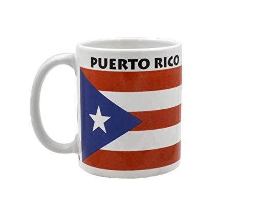 Mug - Puerto Rico Flag Ceramic Coffee Cup 11 Ounce - souvenir Puerto Rico (MUG-FPR)