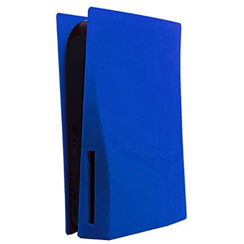 ハードカバー PS5本体 交換用パネル PS5 コンソールカバー シェルカバー 本体保護 防塵 傷防止 (PS5 CD-ROM バージョンに適用,青)