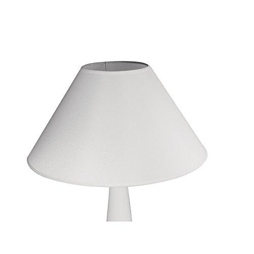 Rayher 2303802 Lampenschirm,  rund, konisch, 35cmø unten, Höhe 22cm, weiß, 100% Polyester, für Stehleuchte, Tischleuchte, auch zum Bemalen und Bekleben