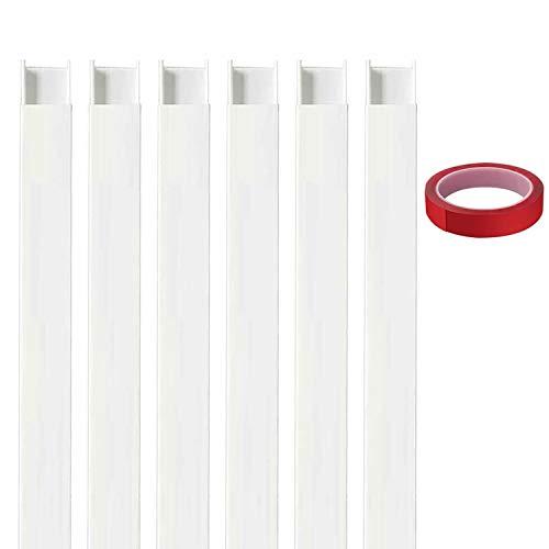 ケーブルカバー 配線カバー配線モール 電線ケーブルカバーケーブルプロテクター テープ ケーブル モール コードプロテクター ホワイト6X 39.8 * 3.8 * 1.95 cm(アクセサリーなし