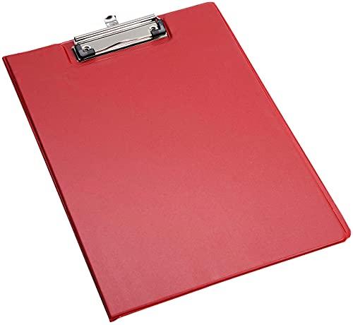 HoitoDeals - Cartella per appunti in formato A4, resistente, per scuola, ufficio, 1 pezzo, colore: rosso