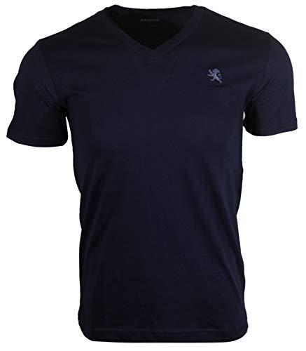 Express Men's Classic Fit V-Neck Small Lion T-Shirt (M, Navy (Blue Lion))