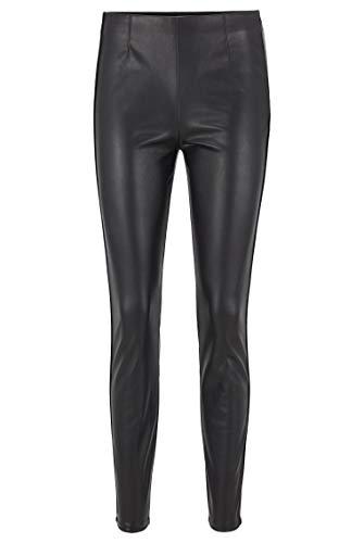 BOSS Damen Salungi6 Skinny-Fit Leggings aus Kunstleder mit Paspeln