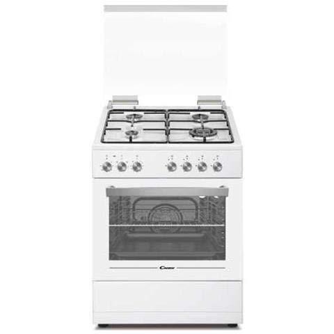 Candy CGE656MW/E - Cucina a gas con forno elettrico 60x60 cm, N° 4 Fuochi, Classe A, Bianco