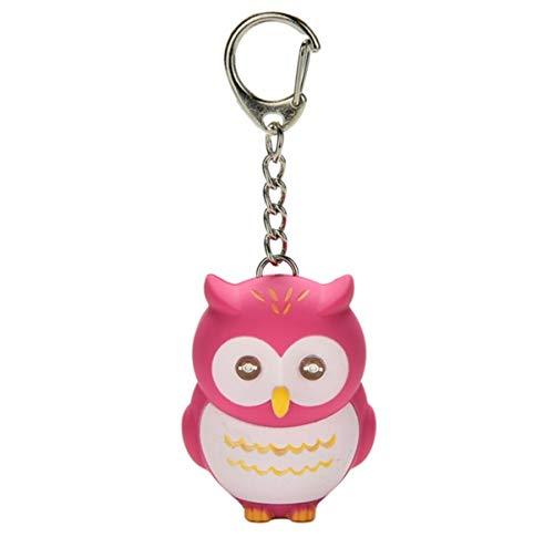 Eule Schlüsselanhänger Figur mit LED und Sound (HUHU)   Geschenk   Kinder   Mädchen   Jungen   Vogel   Uhu   Tier   violett