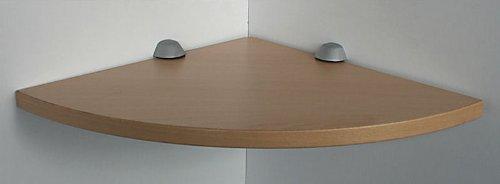 Regale4You RHÖN Wandregal Ecke Buche 35 cm mit Clip M blau/Board Eckablage
