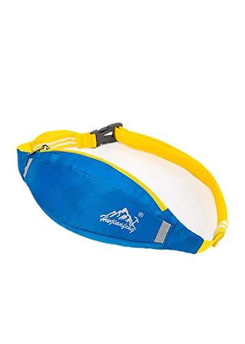 Fewear Sport Waterproof Running Belt Bum Waist Pouch Fanny Pack Camping Sport Hiking Zip Bag for Men Women Waist Pouch Fanny Bag (Blue)